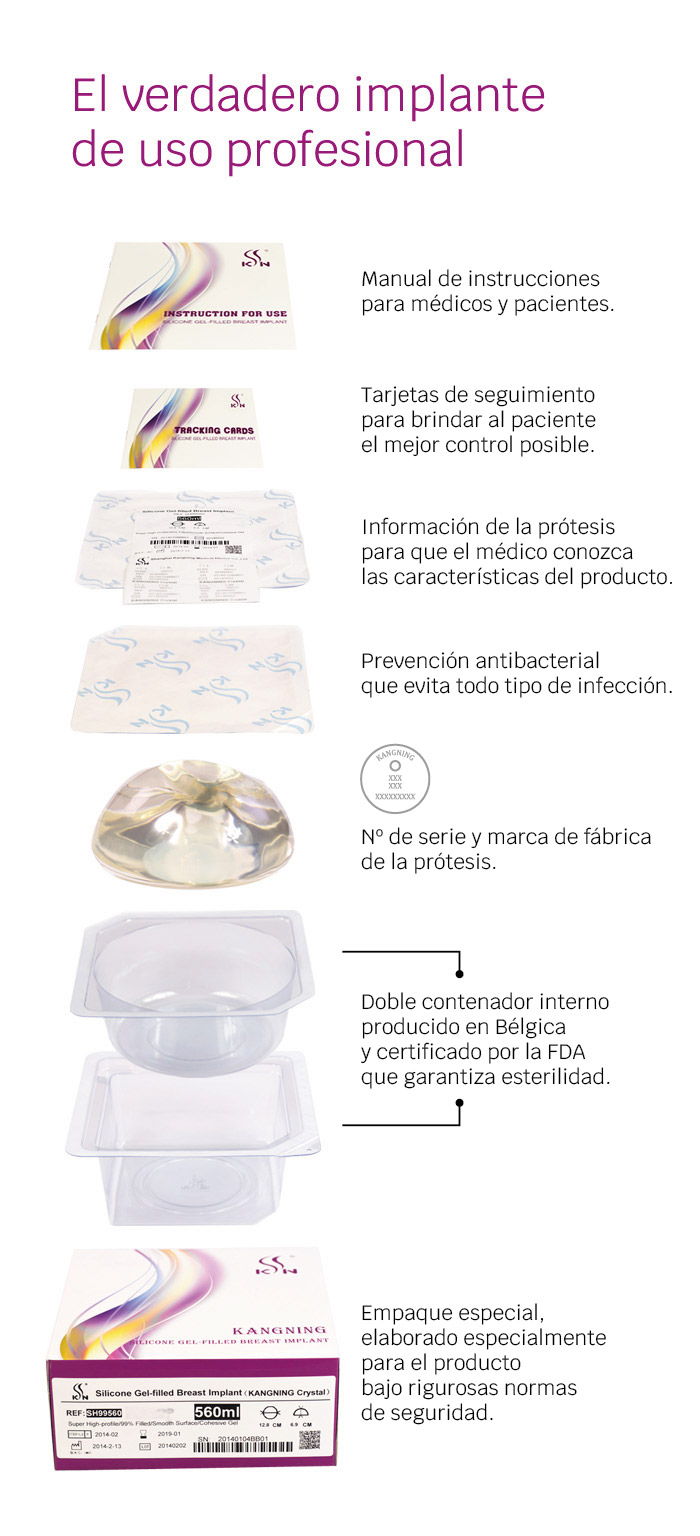 contenido caja implantes kangning